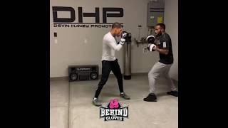 WOAH! DEVIN HANEY SHOWS OFF INCREDIBLE SPEED COMBO ON PADS