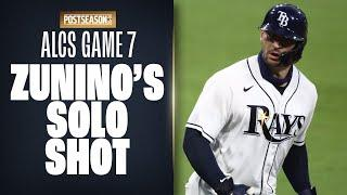Mike Zunino destroys solo homer to put the Rays up 3-0 in ALCS Game 7!