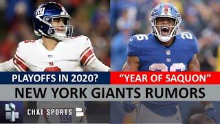 Giants Rumors On Making Playoffs In 2020? Winning NFC East? Saquon Barkley Breakout + Daniel Jones