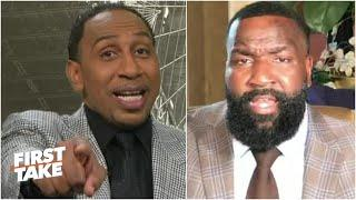 I got you now! - Stephen A. claims victory over Kendrick Perkins in LeBron vs MJ debate | First Take