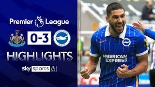 Maupay hits double to blow away Newcastle | Newcastle 0-3 Brighton | Premier League Highlights