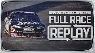 2007 Sylvania 300 From New Hampshire Motor Speedway | NASCAR Classic Full Race Replay
