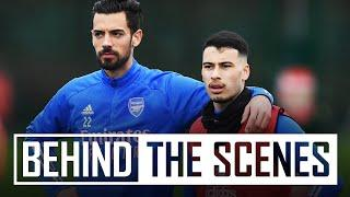 Pepe scores a solo goal & Martinelli is back | Behind the scenes at Arsenal training centre