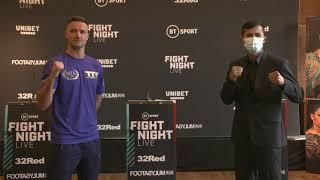 Josh Taylor & Apinun Khongsong come face to face in first faceoff before Unified Fight on Saturday