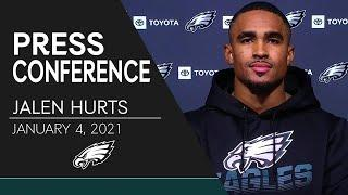 Jalen Hurts Reflects on His First NFL Season | Eagles Press Conference