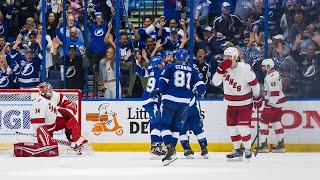 Hurricanes and Lightning score 8 goals in 2nd Period