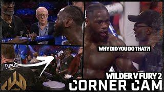 The moment Mark Breland threw in the towel and Deontay Wilder's immediate reaction | Corner Cam