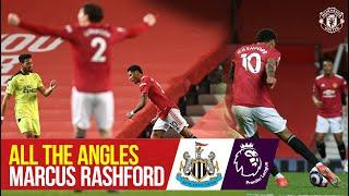 All the Angles | Marcus Rashford's solo strike v Newcastle | Manchester United 3-1 Newcastle