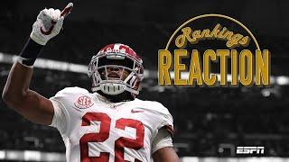 Alabama, Clemson, Ohio State & Notre Dame: Reacting to CFP's final four | Rankings Reaction