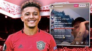 Has Jadon Sancho LEAKED Manchester United Transfer On IG Live?! | Transfer Talk
