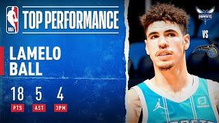 LaMelo Ball Drops 18 PTS, 5 AST & 4 3PM To Guide Hornets!