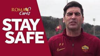 STAY SAFE | Roma players demonstrate five ways to protect against Coronavirus