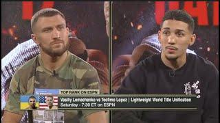 INTENSE! - **VASYL LOMACHENKO v TEOFIMO LOPEZ** - (FULL) PRESS CONFERENCE AHEAD OF FIGHT OF THE YEAR