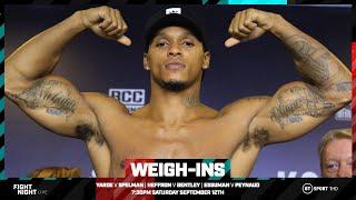 Live weigh-ins: Anthony Yarde v Dec Spelman, Mark Heffron v Denzel Bentley