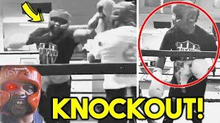 *K.O* ROY JONES JR FULL SPARRING SESSION FOR MIKE TYSON *KNOCKOUT ALERT IN BOXING EXHIBITION*