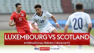 Che Adams strike seals Scotland win over 10-man Luxembourg | Luxembourg 0-1 Scotland | Highlights