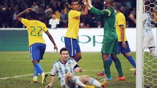 Brazil's cheeky technique to stop Lionel Messi   Oh My Goal